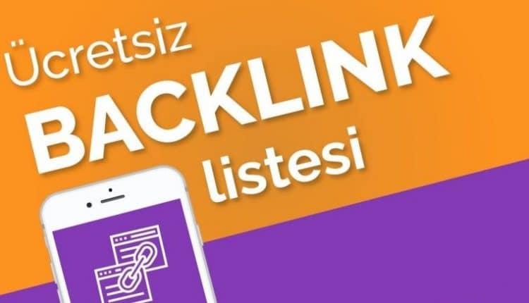 ücretsiz backlink listesi